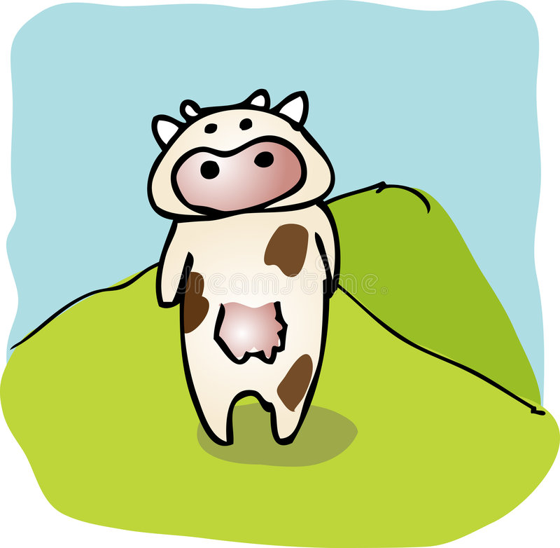 Download Cartoon Cow Stock Image - Image: 4073861