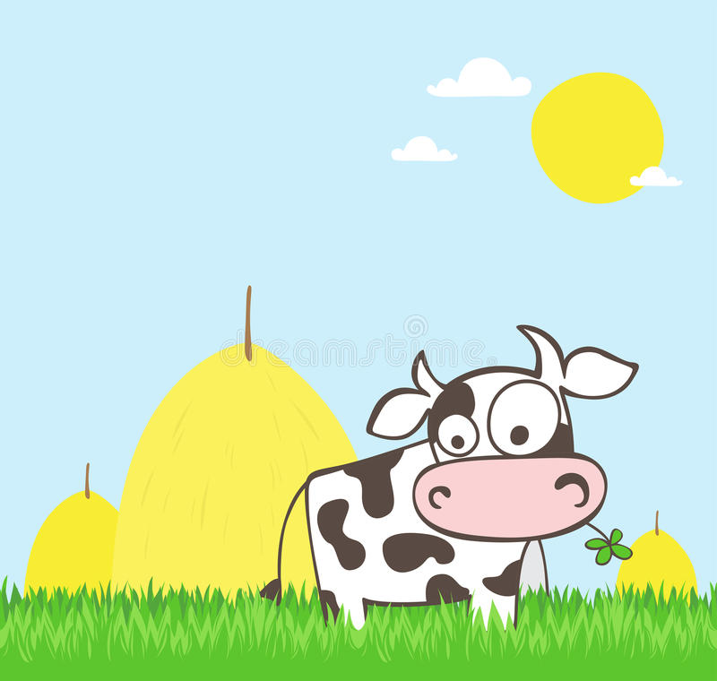 Download Cartoon cow stock vector. Image of domesticated, illustration - 32594626
