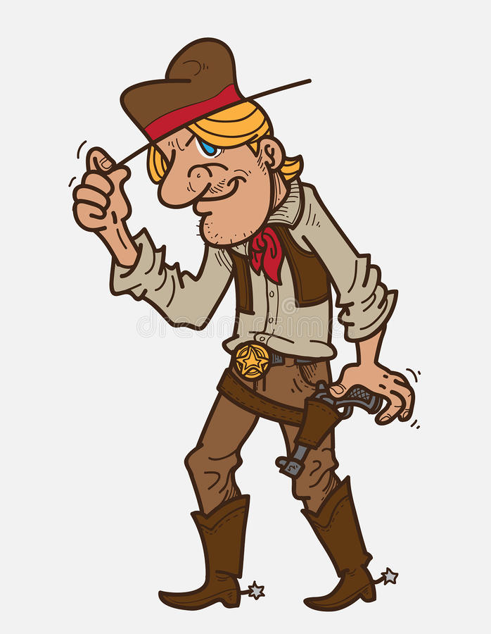 Cartoon Cowboy. Vector Illustration of cartoon cowboy stock illustration
