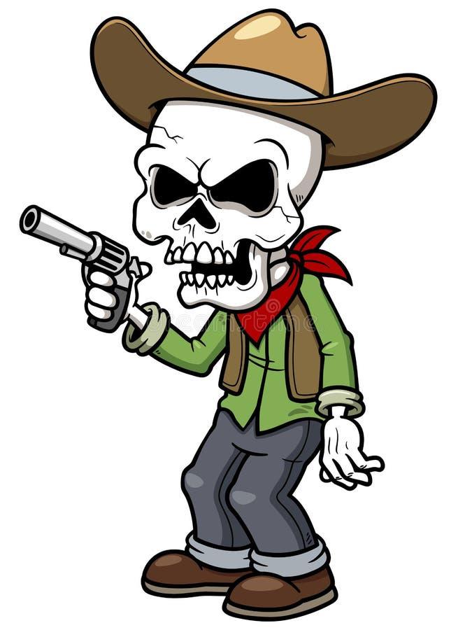 Cartoon cowboy zombie. Vector illustration of Cartoon cowboy zombie vector illustration