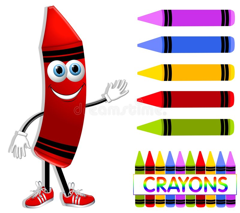 download cartoon crayon collection stock illustration image of image 5026478 - Cartoon Pictures Of Crayons