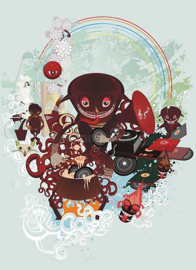 Download Cartoon creatures cooking stock vector. Illustration of concept - 6176759