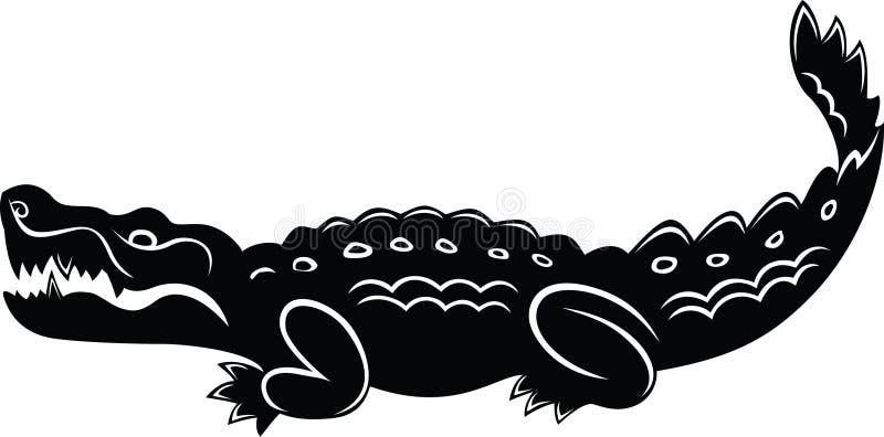 Cartoon crocodile royalty free illustration