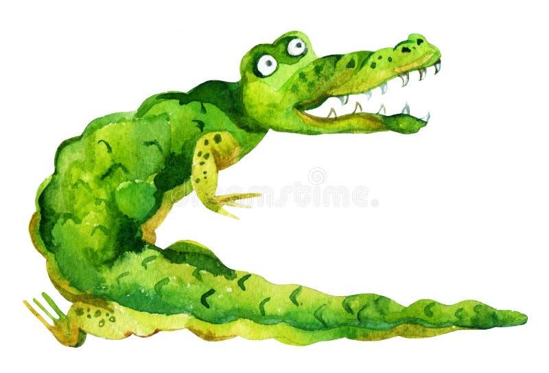 Cartoon crocodile vector illustration