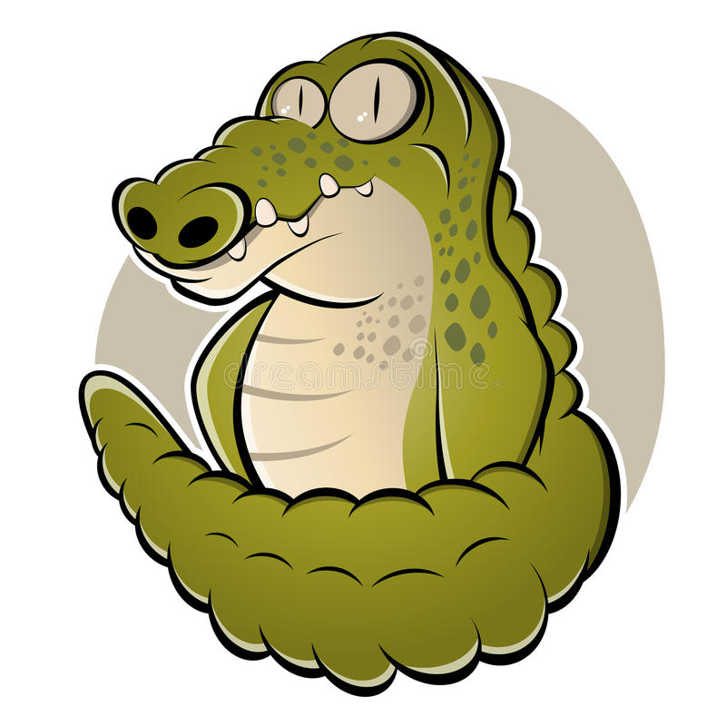 Download Cartoon crocodile stock vector. Image of funny, powerful - 32003486
