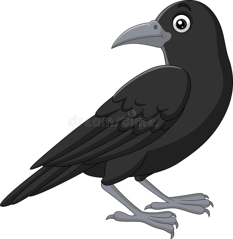 Free Cartoon Crow Isolated On White Background Royalty Free Stock Photography - 153854467
