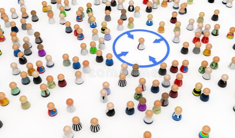 Cartoon Crowd, Circled Out
