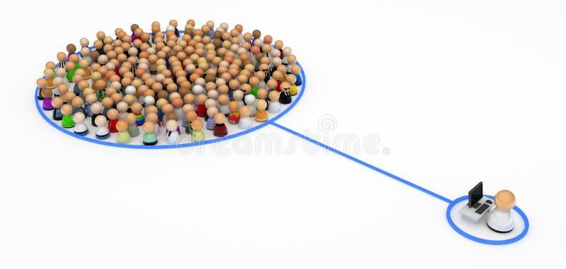 Download Cartoon Crowd, Computer Control Stock Image - Image: 10198051