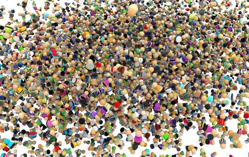 Download Cartoon Crowd, Inside Cloud Stock Illustration - Image: 15183533