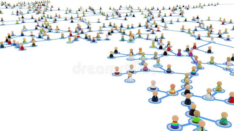 Download Cartoon Crowd Links, Branch Close-up Stock Illustration - Illustration: 15486833
