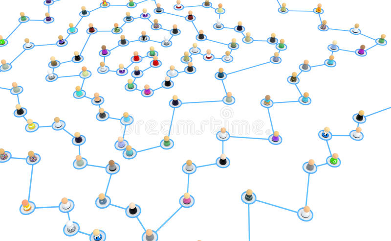 Download Cartoon Crowd Links, Corner Spiral Center Stock Illustration - Illustration: 15385870