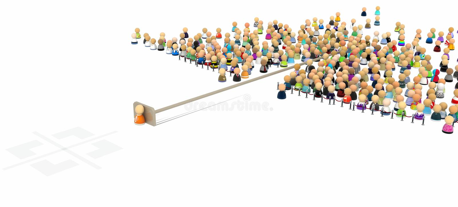 Download Cartoon Crowd, Pushed Out stock illustration. Illustration of bunch - 17188665