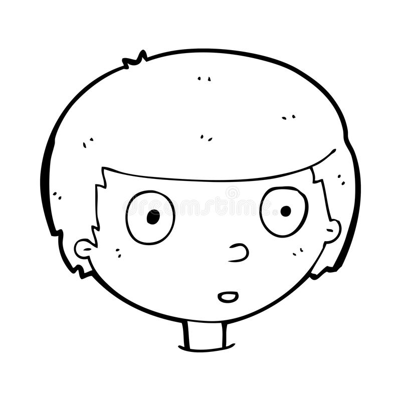 Curious Face Cartoon