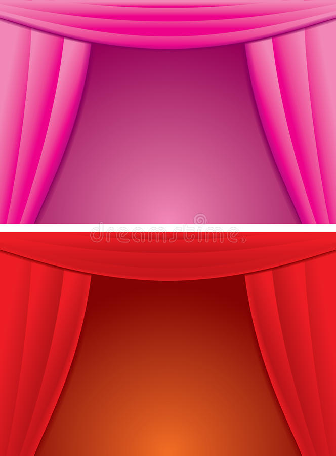 Cartoon Curtain Stock Photo Image 13967930