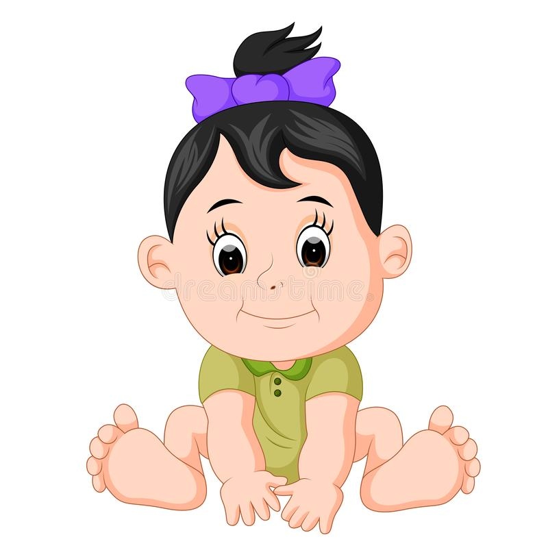 Cartoon cute baby vector illustration