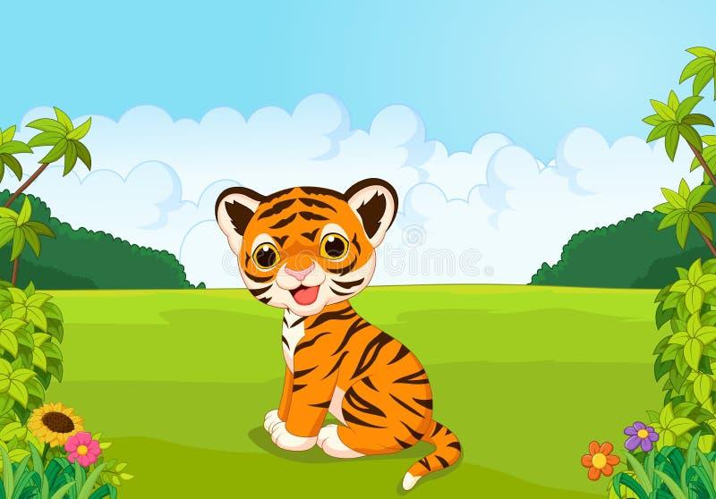 Cartoon cute baby tiger. Illustration of Cartoon cute baby tiger vector illustration