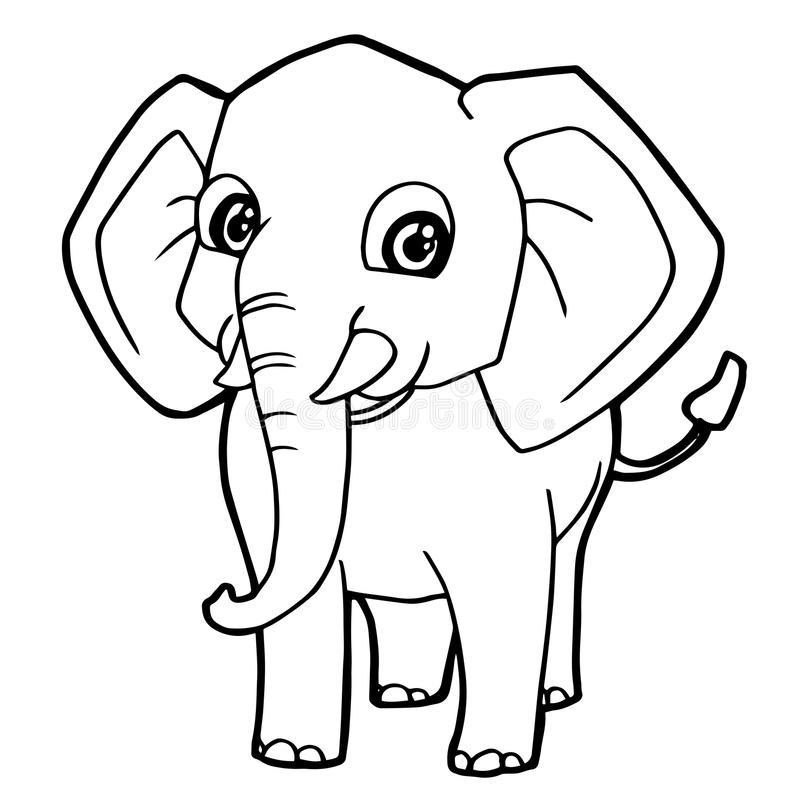 Coloring Page: Elephant Family | San Diego Zoo Kids | 800x800