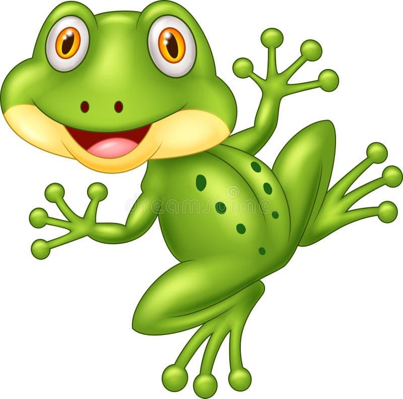 Cartoon cute frog illustration royalty free illustration