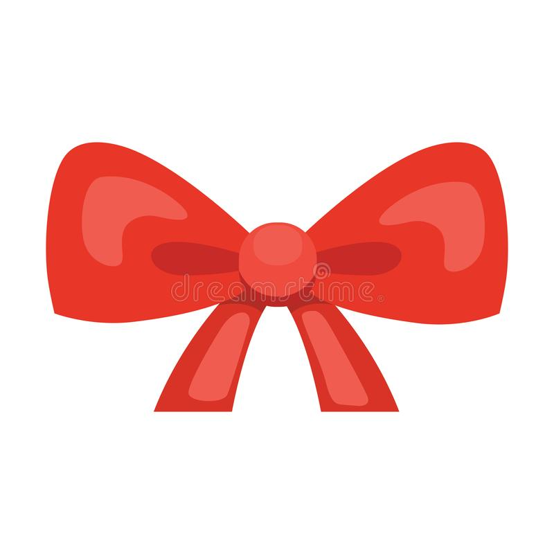 Free Cartoon Cute Gift Bow With Ribbons. Red Color Butterfly Tie Royalty Free Stock Images - 118557739