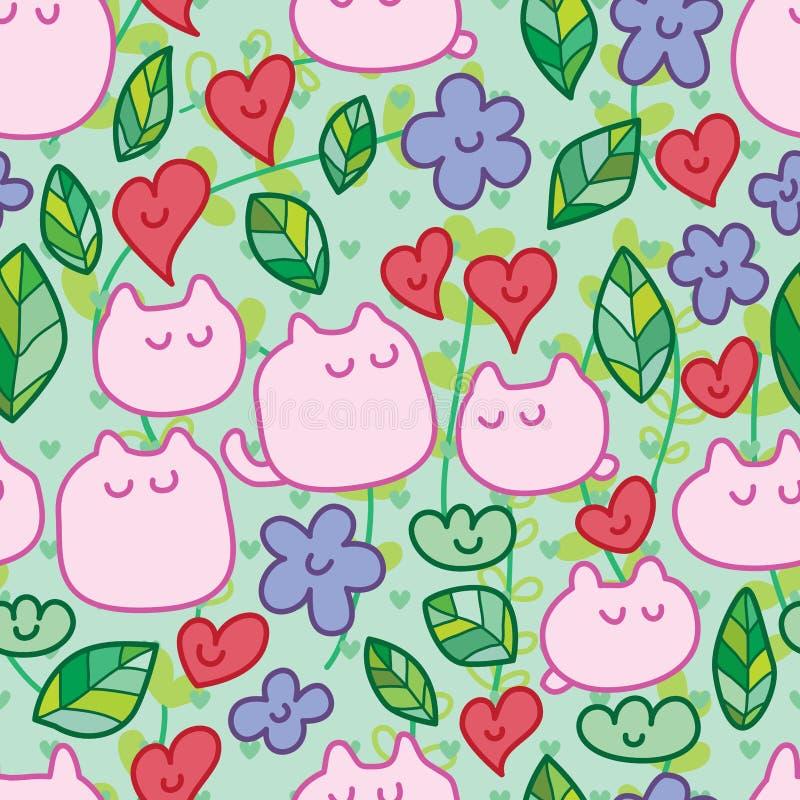 Cartoon cute growth green seamless pattern vector illustration