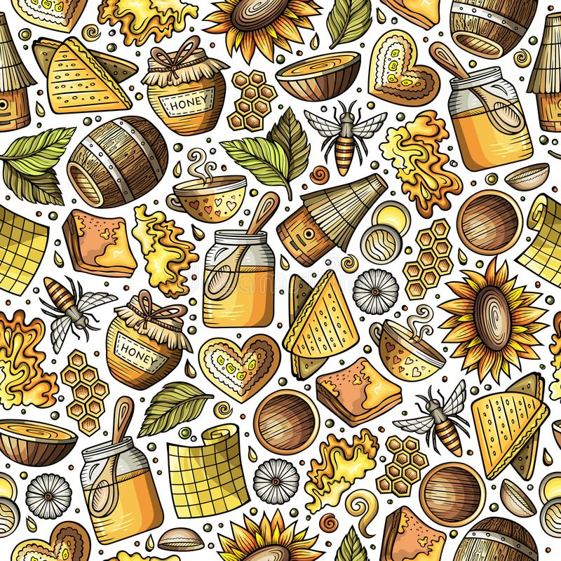 Honey, Mead, Beekeeping . Hand Drawn Apiculture Sketch