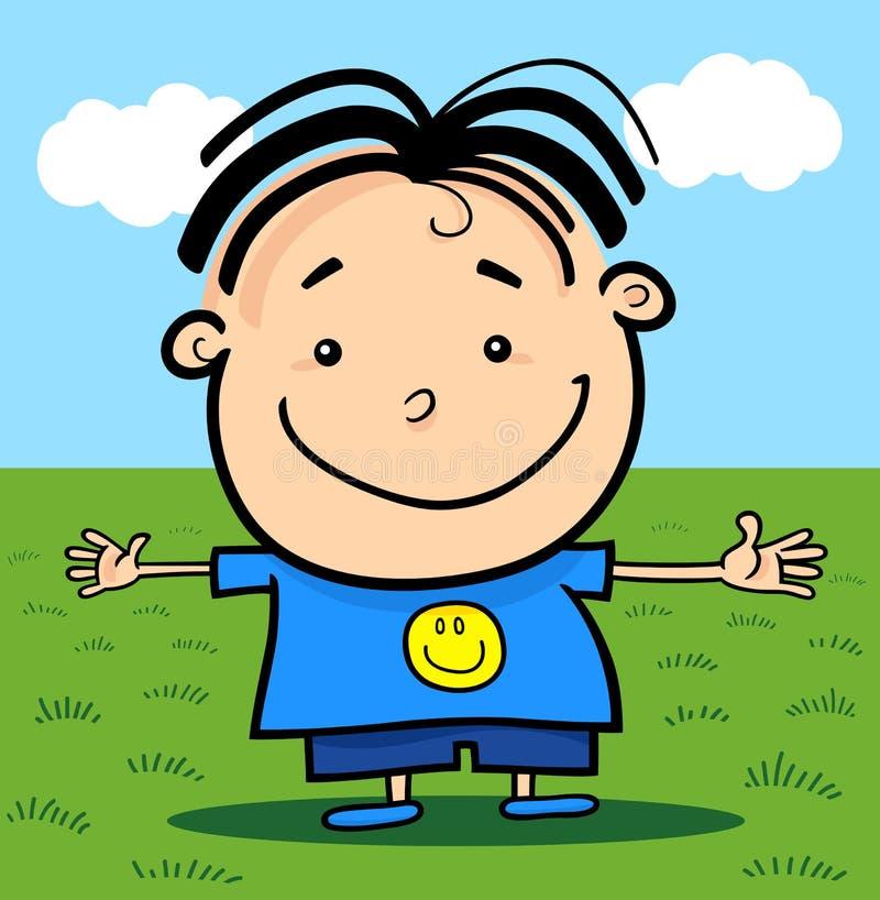 Download Cartoon Cute Little Happy Boy Stock Vector - Image: 26909383