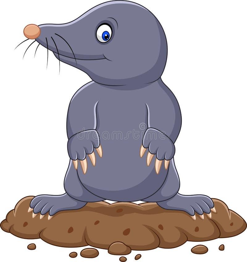 Cartoon cute mole stock illustration