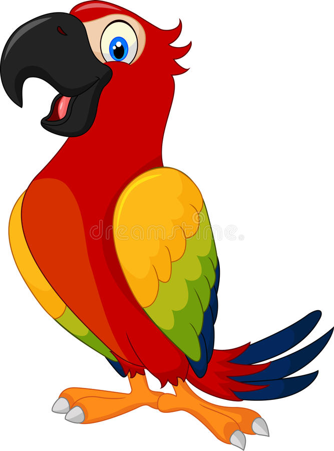 Free Cartoon Cute Parrot Stock Photos - 54300493