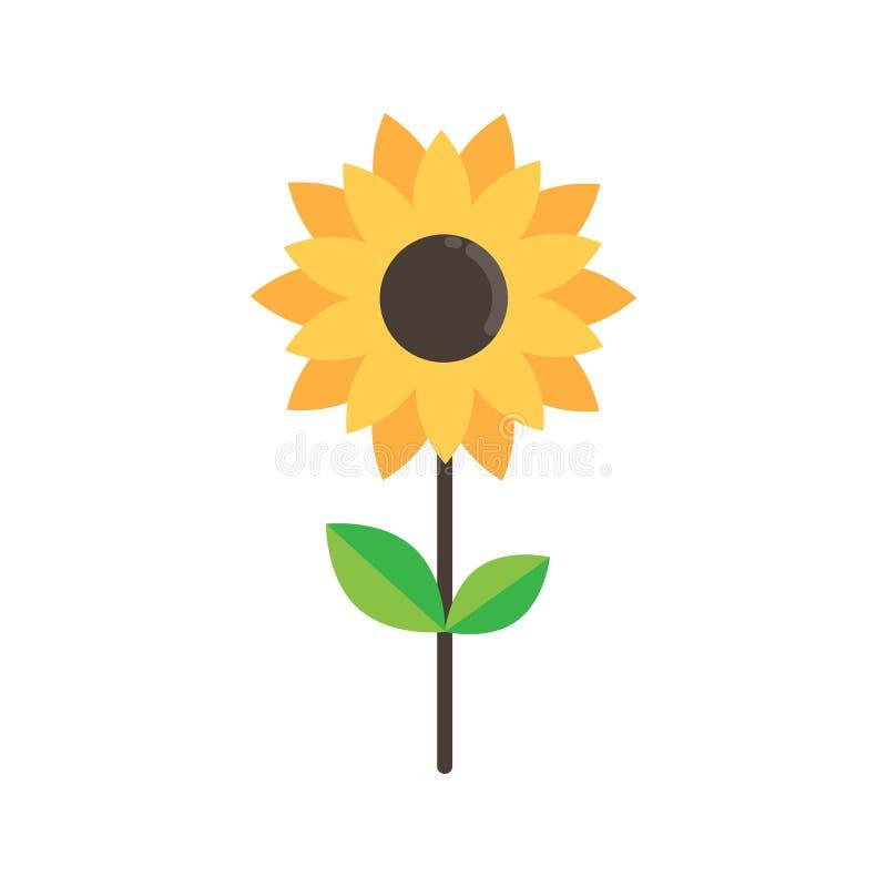cartoon cute sunflower on a white background stock vector rh dreamstime com cartoon sunflower to put a face cartoon sunflower drawing