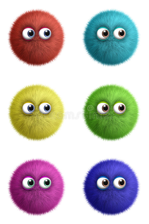 Cartoon cute toy ball royalty free illustration