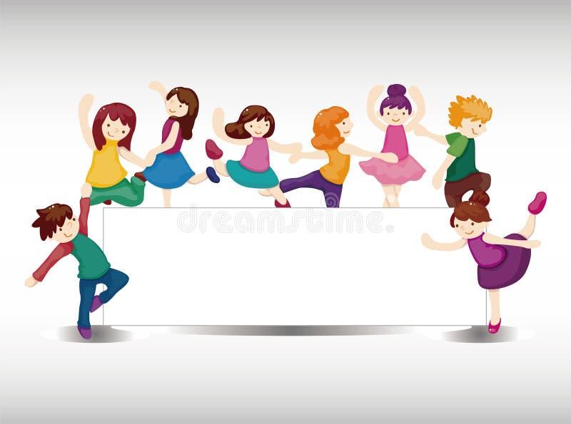 Download Cartoon dancer card stock vector. Image of dress, border - 22359733