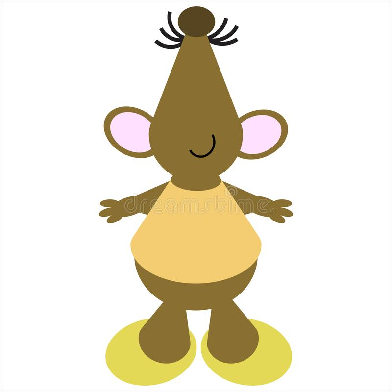 Download Cartoon of a Dancing Mouse stock illustration. Illustration of wildlife - 9710813