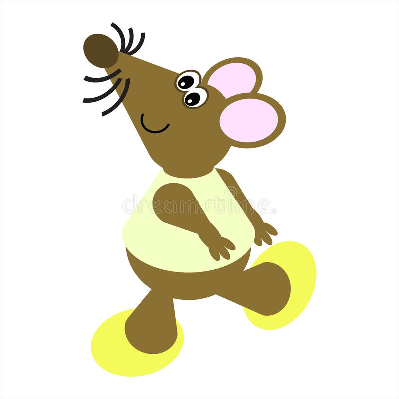 Cartoon of a Dancing Mouse royalty free illustration