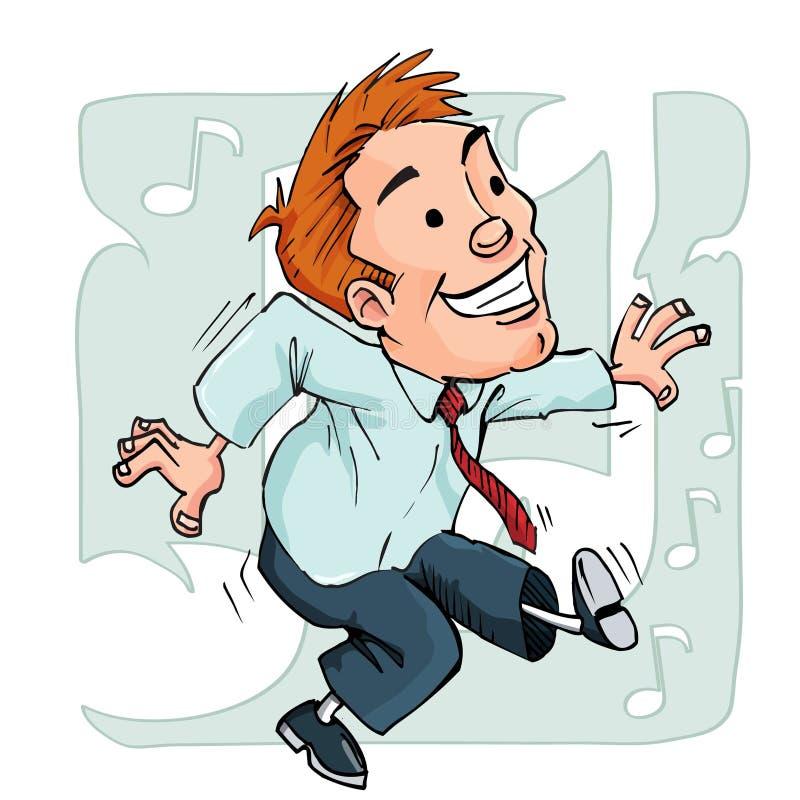 Download Cartoon Dancing Office Worker Stock Vector - Image: 19326623