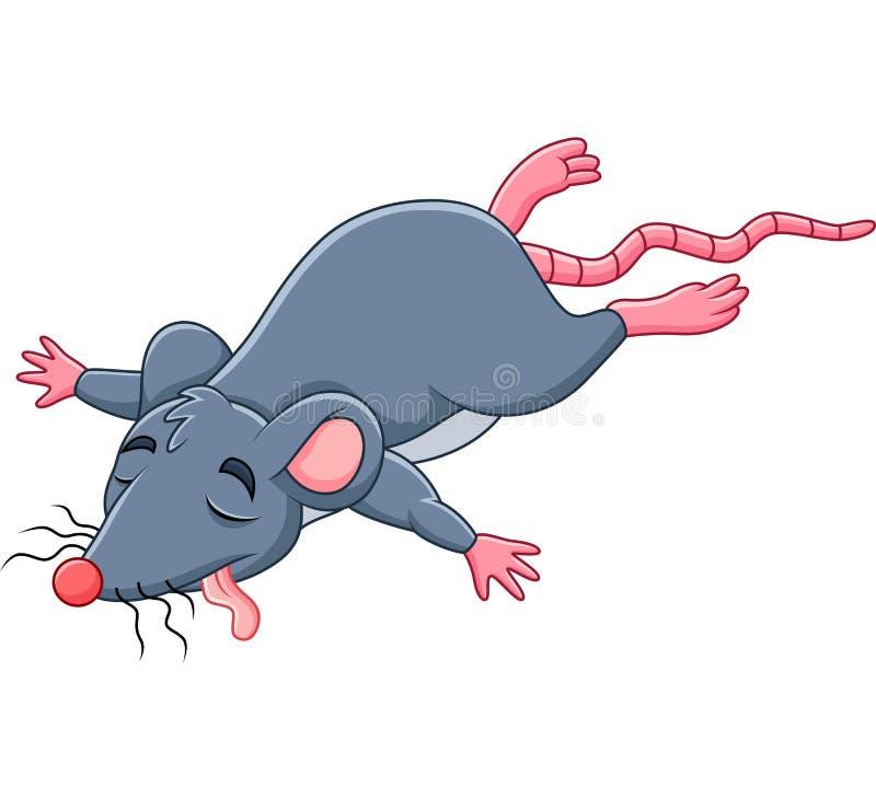 Cartoon dead mouse stock illustration