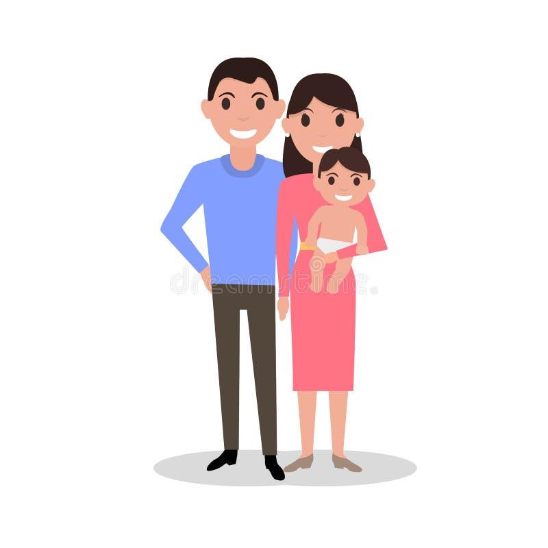 cartoon dear happy family parents and newborn baby stock happy girl clipart free happy girl clipart cartoon