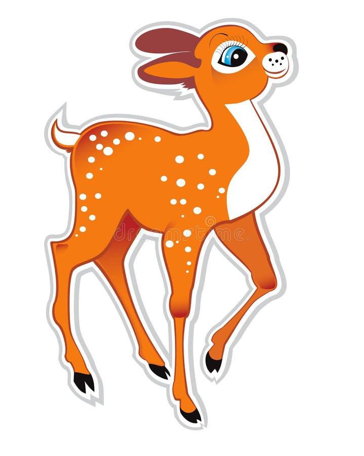 Cartoon deer stock illustration