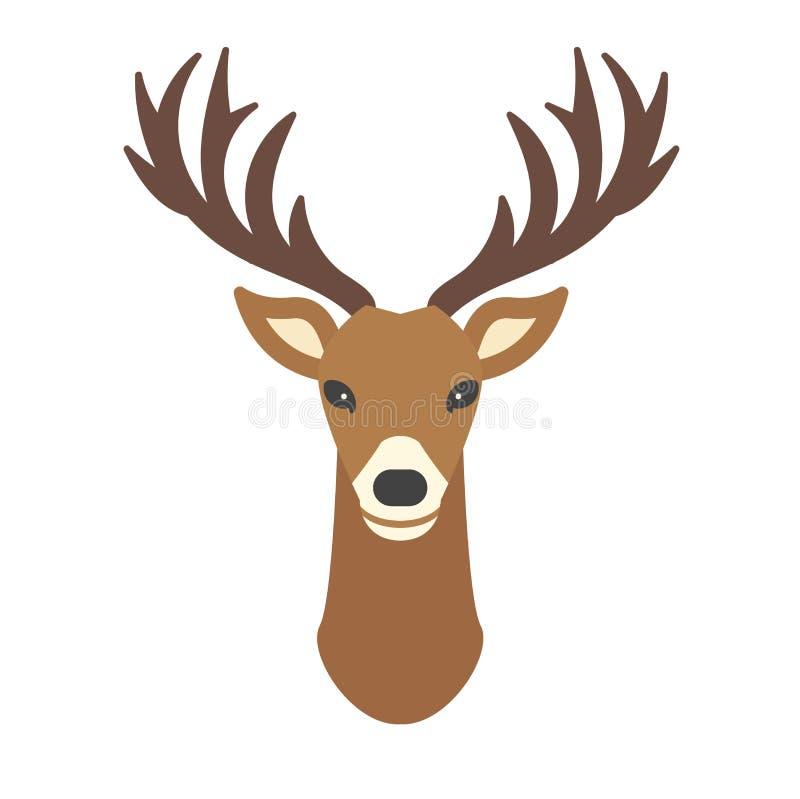 cartoon deer head vector animal stock vector illustration of deer rh dreamstime com cartoon deer head images cartoon deer head clip art