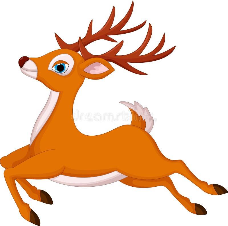 Cartoon deer running. Illustration of cartoon deer running royalty free illustration