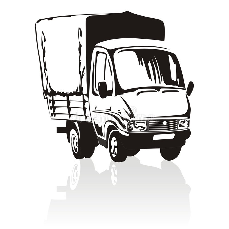 Download Cartoon Delivery / Cargo Truck Stock Vector - Illustration of logistics, gazelle: 3672453