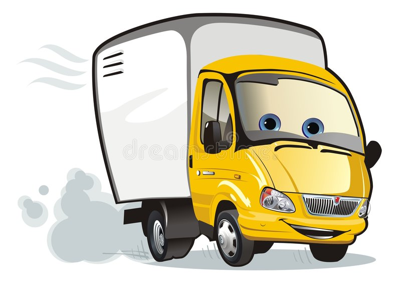 Cartoon delivery / cargo truck vector illustration