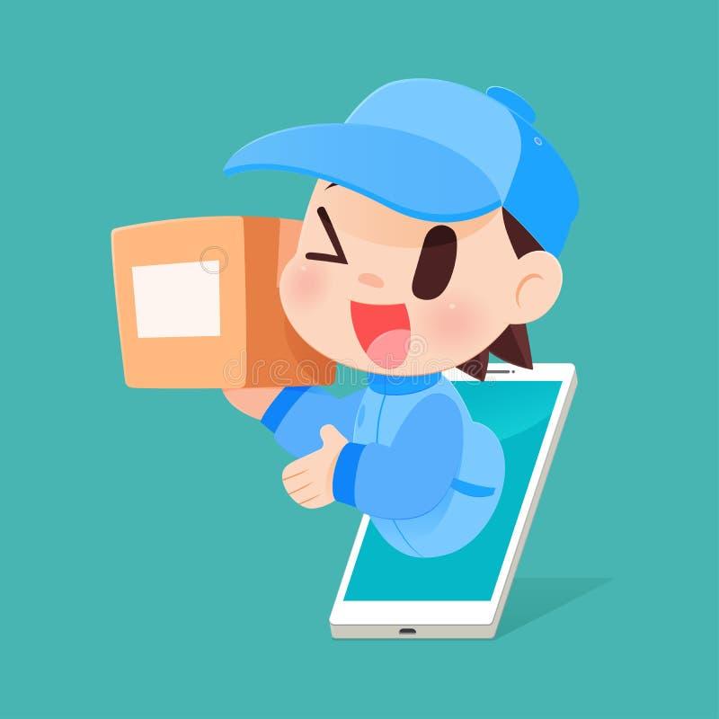 Cartoon Delivery Man stock illustration