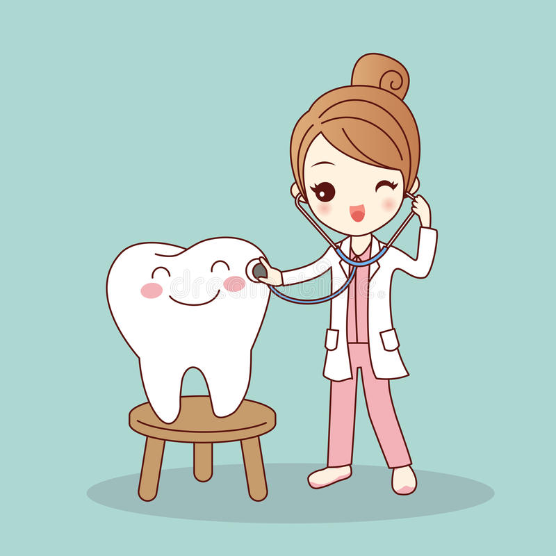 Cartoon Dentist Doctor With Tooth Stock Vector ...