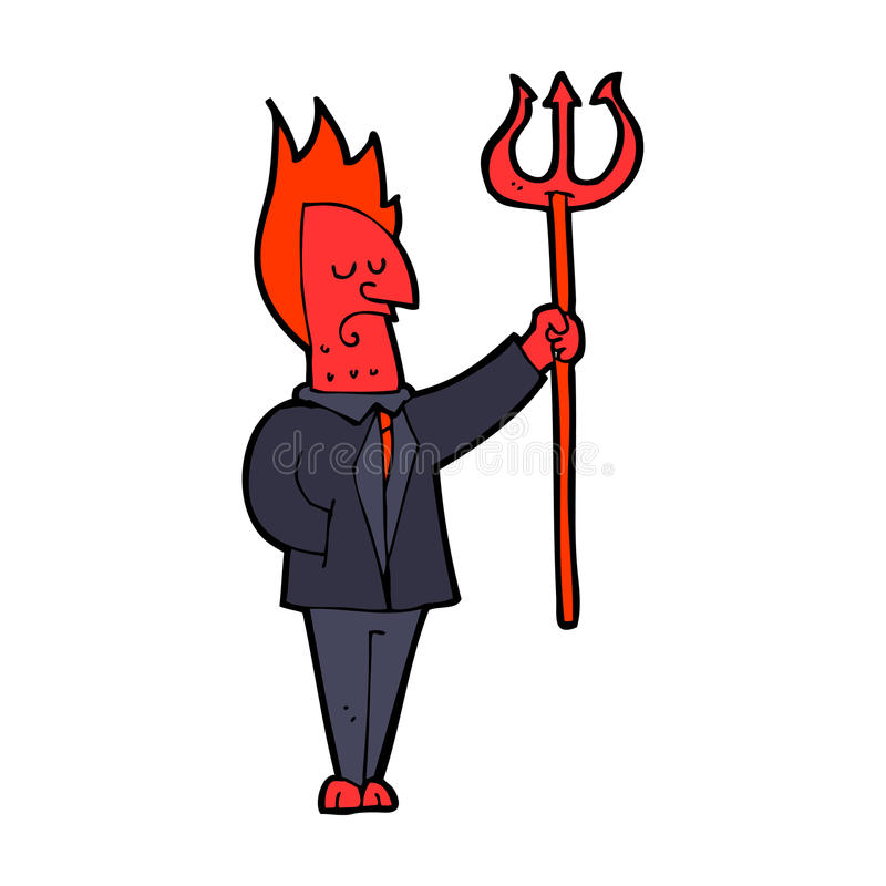 Download Cartoon Devil With Pitchfork Stock Vector - Image: 37012985