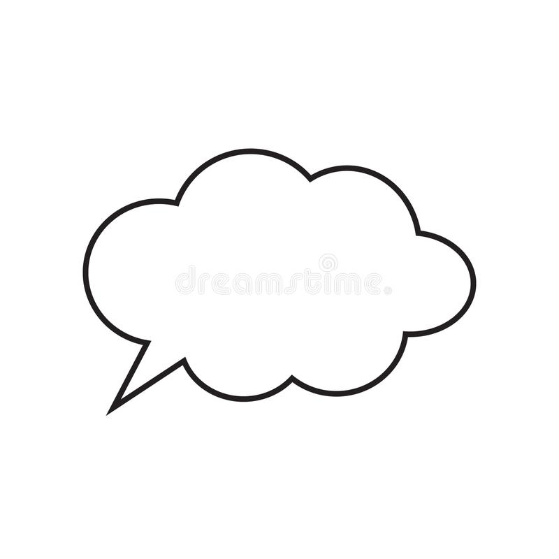 Cartoon dialogs cloud line vector, thinking cloud icon image. Vector illustration isolated on white background royalty free illustration