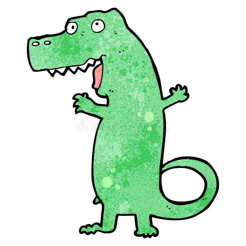 Cartoon dinosaur. Retro cartoon with texture. Isolated on White royalty free illustration