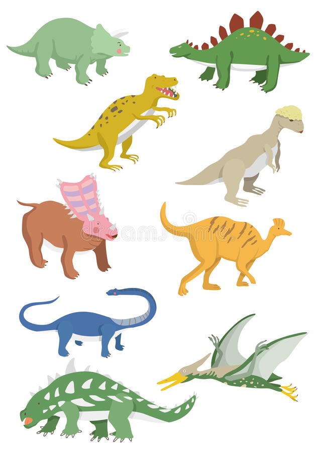 Download Cartoon dinosaurs icon stock vector. Image of clipart - 17635722