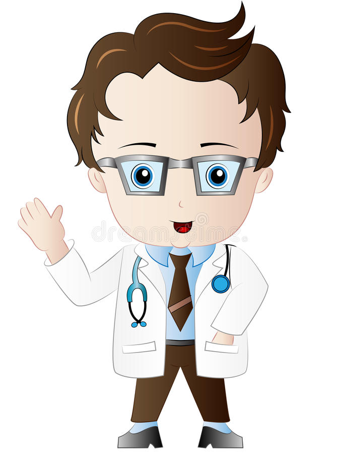cartoon doctor clipart stock vector illustration of vector 85592512 rh dreamstime com clipart doctor and patient clipart doctor