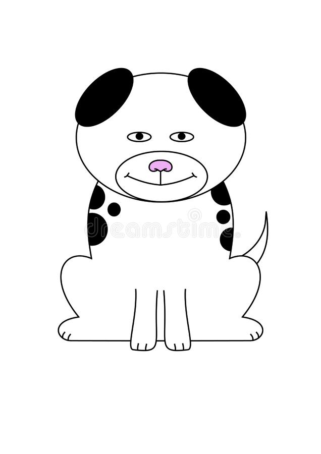 Cartoon Dog royalty free stock photo