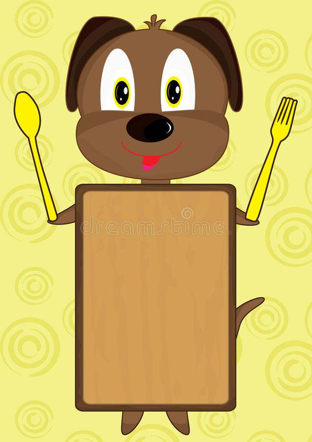 Download Cartoon Dog Board_eps stock vector. Illustration of blanks - 19371130